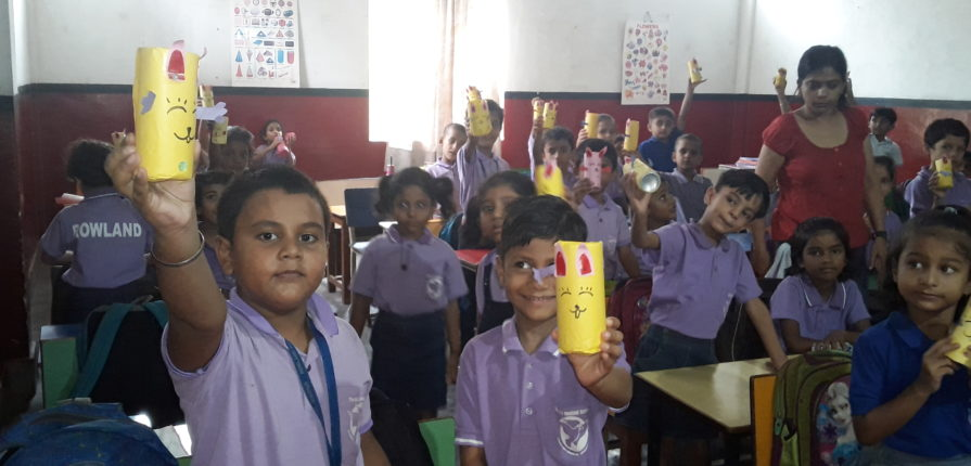 Creating Best Out of Waste Craft Time by Shivpur Juniors
